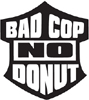 Funny BAD COP NO DONUT decal for Law Police Sheriff