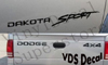 DODGE 4X4 & DAKOTA SPORT decal *KIT*