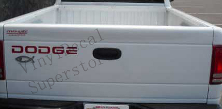 DODGE 2WD tailgate decal replica - Click Image to Close