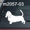 Basset Hound dog decal