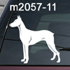 Doberman Pinscher Dobie dog decal
