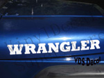 Jeep WRANGLER hood decal pair